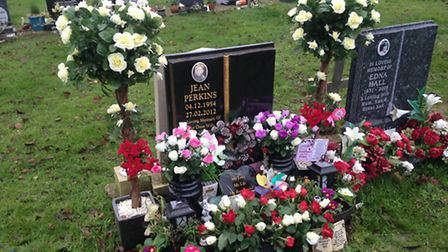 The flowers were stolen from the grave in Weston Road Cemetery.