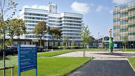 Police were called after a man was spotted on a roof at Lister Hospital in Stevenage this morning.