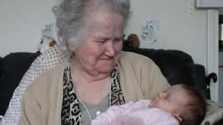 Jean Perry with her granddaughter.