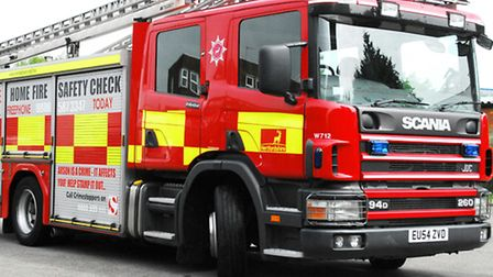Fire engine from Stevenage tackled the car blaze.