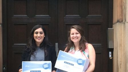 Sanya Masood and Sophie Harrold have been collecting sanitary products for homeless women