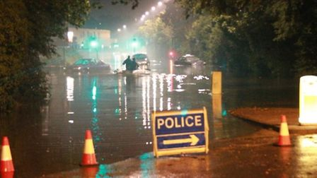 The floods are still affecting services and roads around the town.