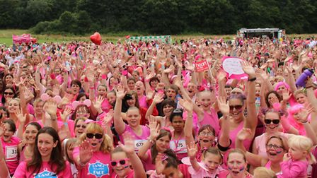 The 'pink army' before last year's Race for Life in Stevenage. Picture: Chris Woor Photography.