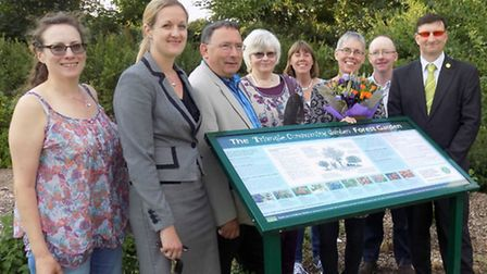 Celebrations to mark 15 years of Triangle Community Garden, Hitchin. The Forest Garden part of the p