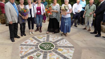 Celebrations to mark 15 years of Triangle Community Garden, Hitchin. North Herts District Council ch