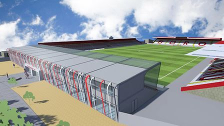 An image of what the North Stand could potentially look like. Photo: Stevenage FC