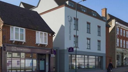 An impression of what the new Premier Inn building would look like. Credit: Turley
