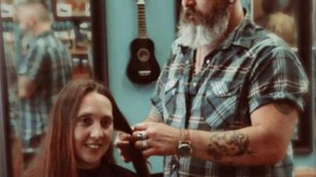 Mum-of-three Zoe Wickens had her hair cut back for the Little Princess Trust ahead of an ear operati