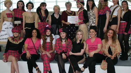 Talented young fashion design students from Oaklands College and North Hertfordshire College showcas