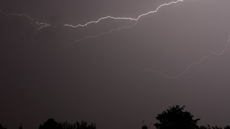 Thunderstorm over Letchworth in the early hours of Saturday, July 4, 2015