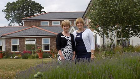 General manager Jenny Lupton, left, and head of nursing Sally Alford are both retiring from Garden H