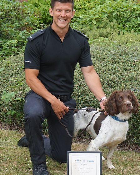 PC Will Wye and police dog Charlie