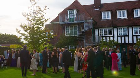 Guests arrive for the charity ball to mark the centenary of St Christopher School, Letchworth