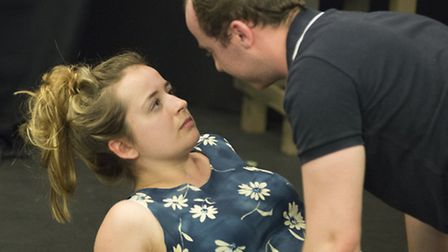 Rehearsal pictures from Vinegar Tom, Lytton Players production