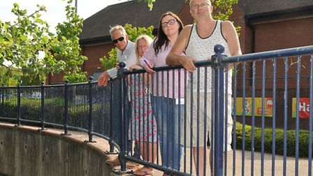 Local residents Andrew Smart, Patsy Mardell, Angela-Louise Johnson and Peter Mardell at the location