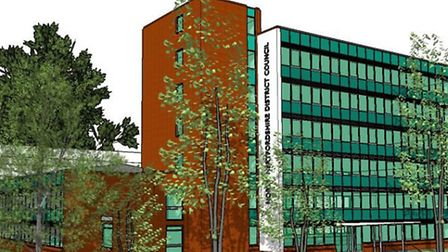 An artist's impression of what the proposed council offices would look like.