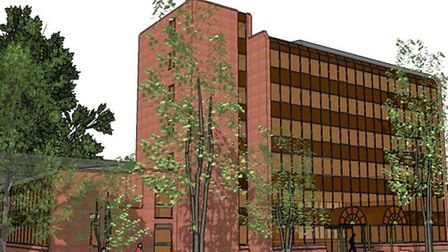 The existing North Herts District Council offices.