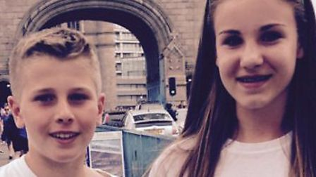 Abby Leverton with friend Lewis Farmer
