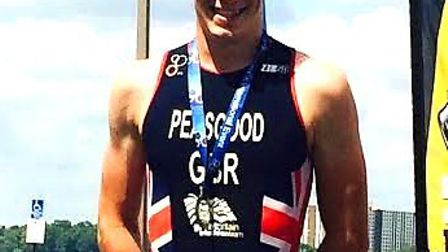 George Peasgood won a silver medal at the World Paratriathlon Championships in Detroit.