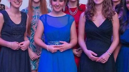 Sian Cleaver, space engineer, centre in blue.