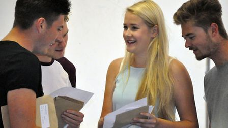 Students at Samuel Whitbread Academy find out their A-level fate.