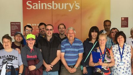 The Jackie's Drop-in Centre crew outside Sainsbury's in Letchworth.