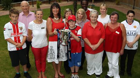 The Capital One Cup visits Milford Lodge Care Home