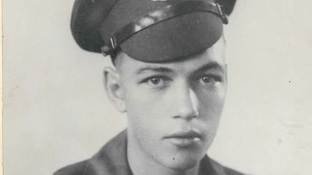 Michael Bray, aged 21, while serving as a military policeman in Singapore after the war.