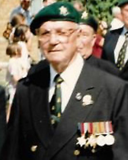 Michael Bray during his time as the treasurer of the North Herts branch of the Burma Star Associatio
