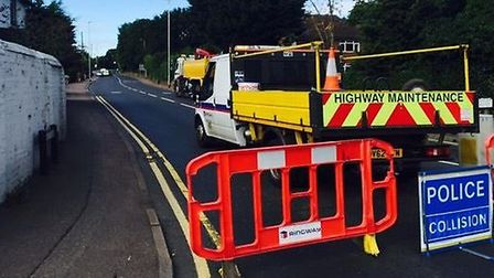 Offley Road in Hitchin was closed for more than five hours following the crash. Picture: Matt Payton