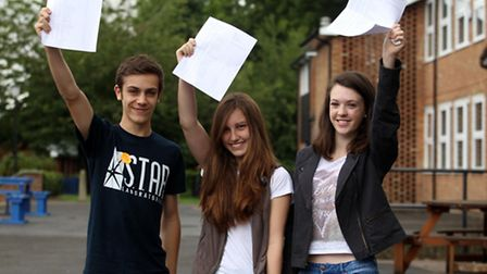 Myles Catley, Laura Searle and Elena Palmer from Thomas Alleyne Academy in Stevenage.