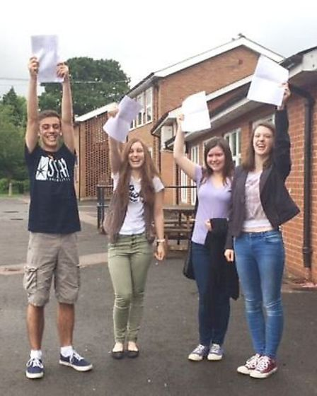 Left to right: Students Myles Catley, Laura Searle, Joanne Balharrie and Elena Palmer