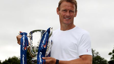Teddy Sheringham with The Capital One Cup