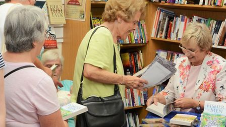 Celebrations to mark the 50th anniversary of the Letchworth Christian Bookshop, August 2015