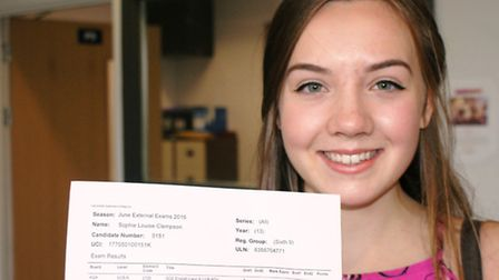 Sophie Clempson is off to study geography at Royal Holloway.