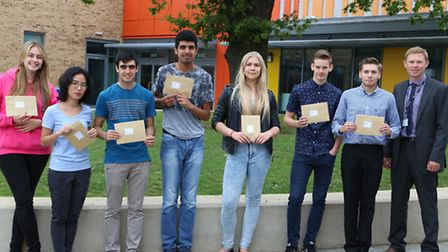 Students Jenny Doggett, Michelle Wan, Bobby Banks, Harpreet Pannu, Clare Holtham, Dominic McEwan, Dy