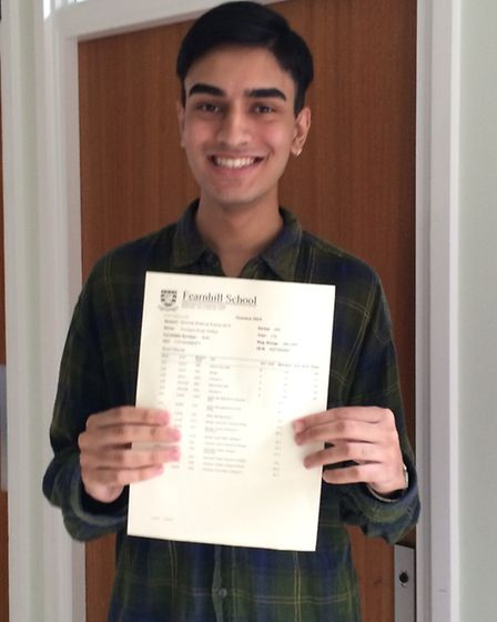 Amarjyot Dhillon achieved two A grades and a B and is off to University College London to read biolo