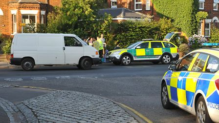 The road was closed for nearly two hours after the crash on Julians Road.