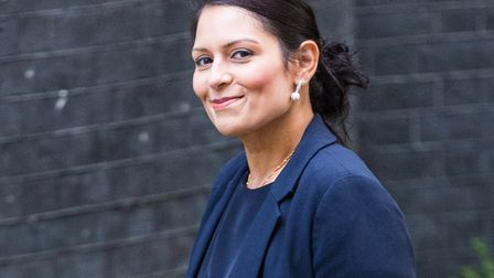"""""""Hopelessly over-promoted"""" Home Secretary Priti Patel has been named Brexiteer of the Week. Picture:"""