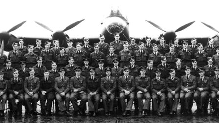 Members of 617 Squadron photographed at Scampton after the Dams raid in May 1943.