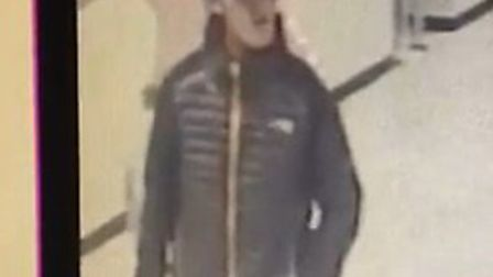 Police want to speak to this man about the crime.