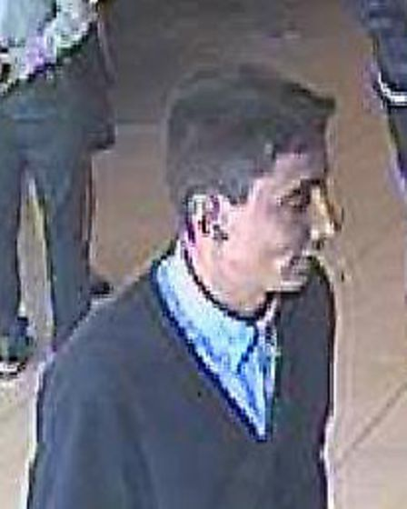 Police want to speak to this man in connection with the theft.