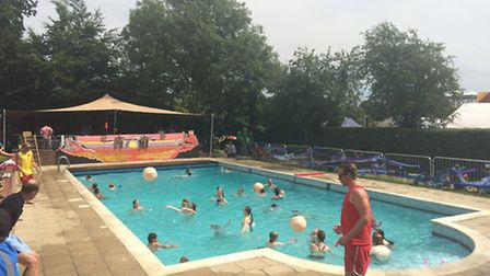 Standon Calling 2015: The swimming pool has been a permanent fixture since the festival's beginnings