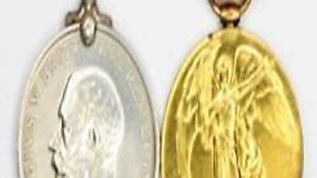 The two medals stolen from Pelham Road