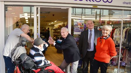Charity founder and former Arsenal goalkeeper Bob Wilson opening another shop in the expanding chain