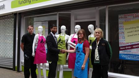 Marks & Spencer staff back new vegan Hitchin charity shop with donation of mannequins. Lee Bryan (M