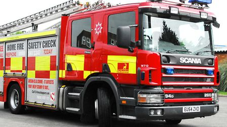 Fire crews tackled a blaze at a Letchworth house last night.