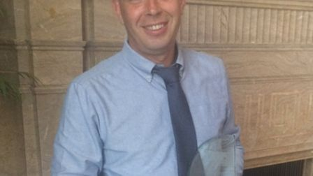 Tony Mitchell, winner of a Herts County Council student social worker award.