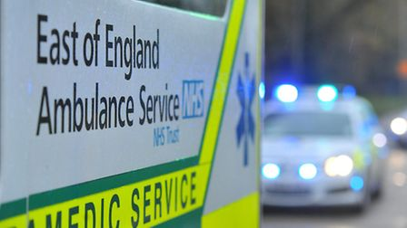 The man was taken to Addenbrooke's Hospital in Cambridge