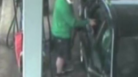 Police want to speak to this man in connection with the fuel thefts. Credit: YouTube